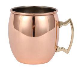 Идеальный гладкий Москва мул кружка барабан медный позолоченный чашка пива чашка кофе из нержавеющей стали-Медный позолоченный кубок от