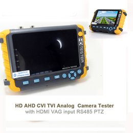 Wholesale tft test - IV8W 5 Inch TFT LCD 1080P 4-IN-1 TVI AHD CVI Analog CCTV Tester Security Camera Tester Monitor VGA HDMI Input Audio Test AT
