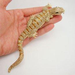 2019 piedini gecko pendente in acciaio Huge Animal 6.42 \