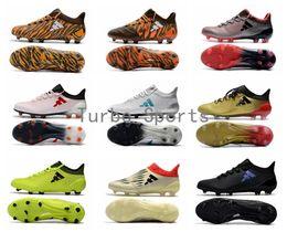 zapatos baratos messi Rebajas 2018 Barato X 17.1 FG / AG Tacos de fútbol para hombres Zapatos de fútbol Auténtico Messi Outdoor TPU Boots césped futsal Envío libre al por mayor