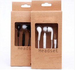 Wholesale Headphones Android Control - New type Wholesale Stereo Headsets In Ear Earphone With Mic and Volume Control Headphones for Samsung Universal for Android Phones IPhone