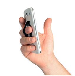 Teléfono celular antideslizante online-Soporte para teléfono universal con correa elástica Banda elástica Soporte para teléfono plegable antideslizante para iPhone X Samsung Xiaomi Huawei Soporte para teléfono celular LG