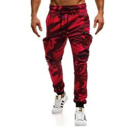 23a66bbc00 zipper pencil pants mens joggers sweatpants casual cotton trousers for men  cargo pants multi pocket camouflage pants