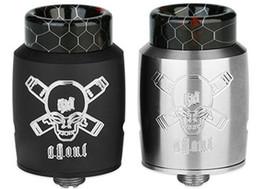 Rda pin онлайн-Аутентичный Blitz Ghoul RDA Rebuildable капающий распылитель w/ BF Pin - серебристый / черный, нержавеющая сталь, Диаметр 22 мм