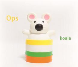 Wholesale cute koala - 15cm Squishy Koala Cup Bottle Cute Cartoon Slow Rising Phone Straps Cartoon Cream Scented Bread Kid Fun Toy Gift EEA287