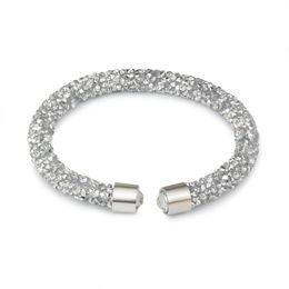 Canada Mode cristal manchette bracelets pour femmes bohème brillant strass ouvert charmes bracelets bracelets de mode bijoux féminin Offre