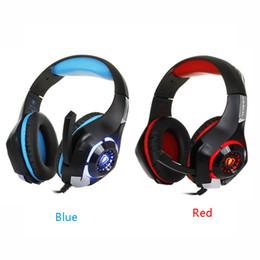 Cablaggio del microfono del pc online-Caldo per il telefono cellulare PS4 PSP PC Gaming Headphones 3.5mm + usb Wired Headset con microfono LED Lampada Noise Cancelling Headphone