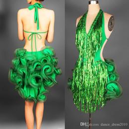 Новый взрослый латинский танец платье Сальса Тан ча ча бальный конкурс блестки группа танцевальное платье 2Color S-XXL от