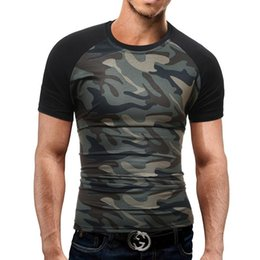 Wholesale tactical casual clothing - New Summer Military Camouflage Men T-shirt Casual Tactical Army Combat O Neck T Shirt Men Quick Dry Short Sleeve Camo Clothing