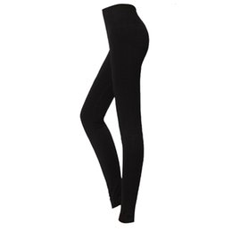 45d4b9e75ef LBFS Fashion Woman New Brushed Stretch Fleece Lined Thick Leggings Winter  Pants Warm Leggings Black Grey 86 cm thick black leggings for sale