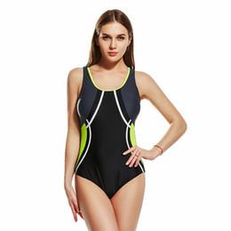 Usura professionale sexy online-Nuove donne di estate Gilet sexy Abbigliamento da nuoto Cucitura Formazione professionale Beach Sportwear Slim Costume intero aperto indietro