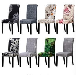 2019 material de hoja Cubiertas de impresión Tamaño universal Cubierta de la silla Asiento de la silla Fundas Protector Asiento Fundas para el banquete del hotel en casa decoración de la boda
