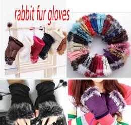 2019 handhandschuhe für mädchen kaninchenfell handschuhe Mode winter warme mädchen leder kaninchen hand warme winter winter fingerlose handschuhe günstig handhandschuhe für mädchen