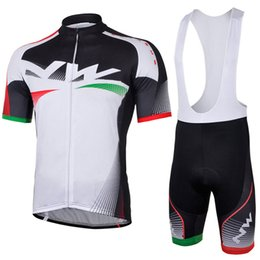 Discount white bib shirts - 2018 NW Men Summer Cycling Short Sleeve jersey Shirt MTB maillot ciclismo hombre Bike Bib shorts set clothing F2401