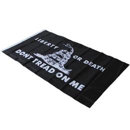 impressão em tela de poliéster Desconto Não Pise Em Mim Bandeira Da Bandeira Nacional Impressão Da Tela Da Fibra De Poliéster Liberdade Ou Morte Bandeiras Designer De Moda Para Cheer 5yn ZZ