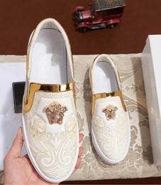 Zapatos amarillos de la boda online-la última marca de botas para hombre en el mercado la más alta calidad de color azul amarillo, con cuello alto y zapatos casuales para hombre zapatos de boda para fiestas 4