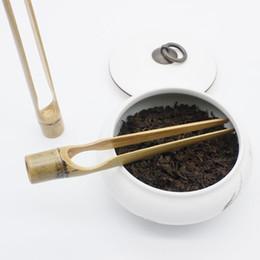 Wholesale green cast iron - High Quality Tea supplie Handmade Bamboo Tea Clips Tweezers Tea Accessories About 18-20cm F20173663