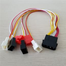 PC diy de 4 pinos IDE molex para 6-port Cooler ventilador de refrigeração 2pin Splitter cabo de alimentação de cabo 12 V 7 V 5 V 30 cm de Fornecedores de 12v 2pin fans
