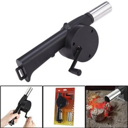 Wholesale Hot Blower - 2016 Hot Cooking BBQ Fan Air Blower for Barbecue Fire Bellows Powered By Hand Crank