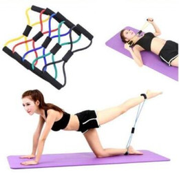 Wholesale home workouts - Light Figure 8 Ultra Resistance BToner Resistance Band Exercise Cords for Yoga Workout Body Building Home Gym with Heavy Duty CCA9391 500pcs