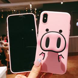 2019 suportes de telefone de porco Moda rosa bonito case para iphone x 7 plus xs case titular do telefone de silicone tampa do suporte para iphone 6 s 8 6 plus xs max case porco colhedor