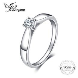 e7edecc58287 JewelryPalace Lovely 0.2ct Solitario Anillo de compromiso genuino 925  joyería plateada rodio de la plata esterlina para la muchacha rebajas anillo  de plata ...