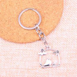 Porte-clés oiseau en métal en Ligne-Nouvelle mode 25 * 26mm birdcage bird flower KeyChain, nouveau mode fait main en métal porte-clés fête cadeau