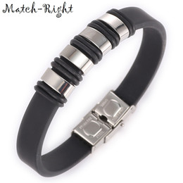 Wholesale Metal Wristbands For Men - whole saleMatch-Right Men's Leather Bracelets Metal Bracelet Cuff for Men Stainless Steel Bracelets Bangles Men's Wristband BR022