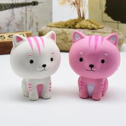 2019 bolo de gato bonito Crianças Brinquedos Jumbo Squishy Rosa Branco Gato Kawaii Animal Bonito Lento Aumento Doce Perfumado Encantos De Ventilação Bolo Pão Kid Toy Presente Da Boneca desconto bolo de gato bonito