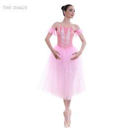 trajes de bailarina adultos Desconto Adulto Meninas Rosa Romântico Comprimento Macio Tule Ballet Dance Tutu Veludo Collant Vestido de Dança Traje de Dança Longo Tutus 18090