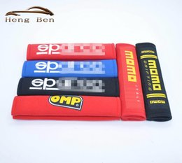 Wholesale Point Pad - HB 1pair Racing car seat belt shoulder pad sets Universal racing harness cover   car seat belt pads BLUE RED BLACK SPCO
