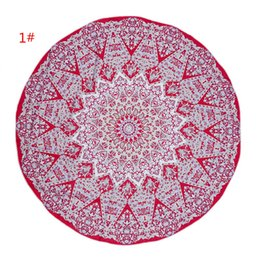 Wholesale Dot Bath Towel - 150cm American Style Microfiber Round Beach Towel Thick Soft Super Absorbent Tassel Towels Mandala Printing Tapestry Kids Summer Bath Towels