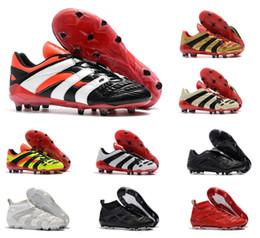 zapatos de fútbol de corte alto Rebajas Depredador Acelerador Electricidad FG retro Corte alto Beckham se convierte en 1998 Zapatos de fútbol para hombres Botines botas chaussures Botas de fútbol
