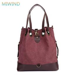 Wholesale Coffee Bucket - MIWIND Bolsas Mujer 2017 Top Quality Handbags Women Brand Messenger Shoulder Bags Canvas Bucket Bag Ladies Fashion Tote CB127