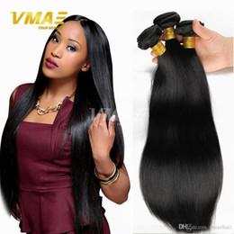 En Kaliteli Brezilyalı Saç Örgü Demetleri Brezilyalı Düz Virgin İnsan Saç 3 Adet Çok Işlenmemiş Brazillian Saç Uzantıları Doğal Siyah nereden bakire brazillian düz saç tedarikçiler