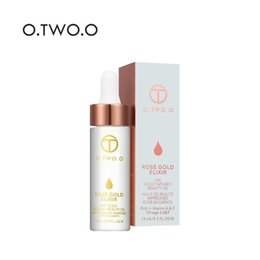 Wholesale natural moisturizing lotion - 2018 O.TWO.O 24k Rose Gold Elixir Skin Infused Beauty Oil Essential Oil Before Primer Foundation Moisturizing Face Oil