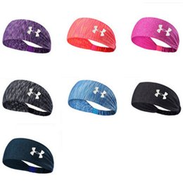 Wholesale sweat sport - Sport Headband Under Sweat Wicking Stretchy Athletic Bandana Headscarf Yoga Headband Head Wrap Best for Sports Exercise