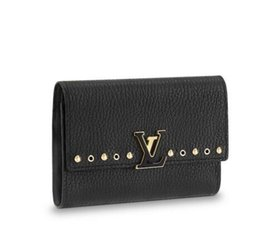 lycra evening dresses UK - CAPUCINES COMPACT WALLET M62765 2018 NEW WOMEN FASHION SHOWS EXOTIC LEATHER BAGS ICONIC BAGS CLUTCHES EVENING CHAIN WALLETS PURSE