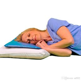 Almohadas de cuerpo fresco online-SoothSoft Chillow Pillow Cómodo Agradable Verano Cool Todo el cuerpo Bolster Healthcare Pillows Therapy Sleeping Aid Pat 5 8kr ii