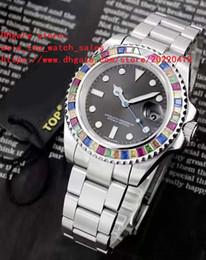 хрустальная окантовка Скидка 3 цвета последняя версия 116695 Азия 2813 механизм 40 мм Кристалл алмазный безель из нержавеющей стали высокое качество механические автоматические мужские часы