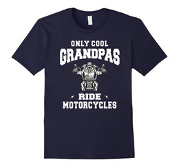 Wholesale Riding Shirt Motorcycle - Only Cool Grandpas Ride Motorcycles Bike Cycle Biker T-shirt