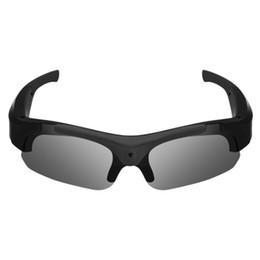 2019 occhiali da sole pinhole Occhiali da vista Videoregistratore HD 1080P Smart Glasses Fotocamera digitale Mini Pinhole Occhiali da sole Videocamera Videoregistratore Videocamera Sport occhiali da sole pinhole economici