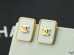 Wholesale Satin Pearl Bags - Factory Sell High Quality Brand Design Luxury Diamond Flowers Earrings Woman Fashion Letter Pearl Stud Earrings With Dust Bag And Box