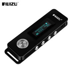 menor mp3 player Desconto Atacado-2017 Original RUIZU K10 Gravador de Voz HD Digital Portátil Pequeno Gravador para Palestras 8GB Redução de Ruído Mini MP3 Player