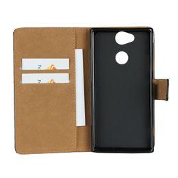 Echtes Leder-Mappen-Kasten für Sony XA2 Ultra Xperia XZ1 M5 Kreditkarteninhaber-Standplatz-Abdeckungs-Mappen-Schlag-Fall-Telefon-Kästen von Fabrikanten