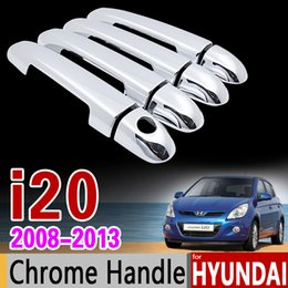 Wholesale Chrome Trim For Cars - wholesale for Hyundai i20 2008 - 2013 PB Chrome Door Handle Cover Trim Set 2009 2010 2011 2012 Car Accessories Stickers Car Styling