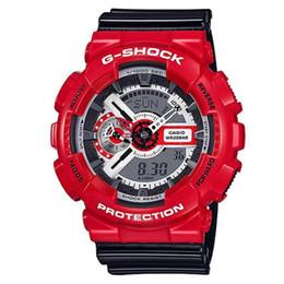 Wholesale luxury g shock - Popular Mens Summer G Sports GA110 Watches LED Waterproof Climbing Digital Shock Men GA100 Watch All Pointer Work Original Box Luxury Watch