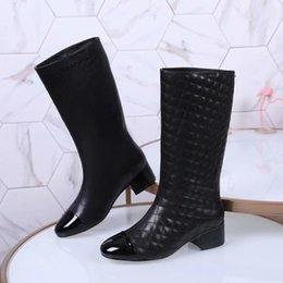 b91d8c93d72 womens kitten heel boots Promo Codes - Knee High Flat Boots Color Long  Booties Female Fashion