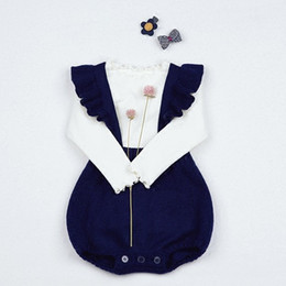 92eadb012f43 2018 Spring New Arrival Infant Bodysuits Sweaters Knitting Straps Rompers  For Girls Princess Newborn Jumpsuits Baby Girl Clothing Set Suit