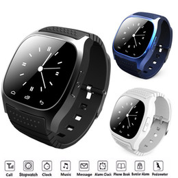 Wholesale gps sms tracker watch - M26 Bluetooth Clock Smart Watches With SMS Remind Pedometer Whatsapp Android Wearable Devices Social App Call Reminder Smartwatch